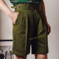 Men's Retro Shorts Gurkha Pants Cotton Naples Pants British Casual Work Pants