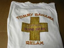 Tommy Bahama t-shirt M-Medium Hong Kong Island Patrol Relax NEW White short-slv