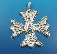 1975 Reed & Barton Sterling Silver Christmas Cross Ornament