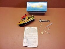 Early Pressed Tin Tug Boat Toy Real Steam Rattandeep Enterprise India Orig. Box