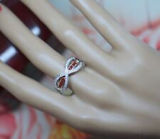 Vintage Jewellery Ring Ruby White Sapphires Antique Art Deco Jewelry S1/2