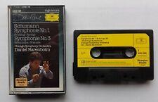 Cassette Daniel Barenboim, Chicago, Schumann – Symphonie No. 1 & 3 DG Signature