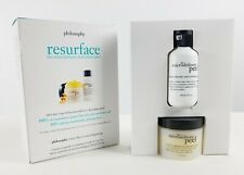 Philosophy Resurface The Microdelivery Dual - Phase Peel 2 Pieces Set New In Box