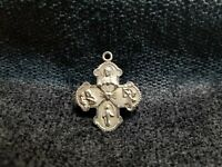 Vintage Creed 925 Sterling Silver I Am Catholic Please Call A Priest Pendant