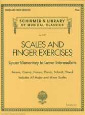 Scales & Finger Exercises Piano Sheet Music Book