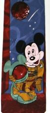 Red Astronaut Mickey Mouse Silk Tie
