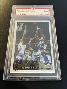 Carmelo Anthony - 2003 Topps Chrome- Rookie Card (PSA 9)