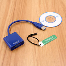 1080P USB 3.0 to VGA Multi Monitor Adapter External Video For Window 7 /8 /10