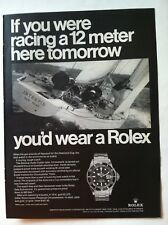 1969 ROLEX SUBMARINER CHRONOMETER PRINT ADVERTISING - IF YOU WERE RACING.. AD