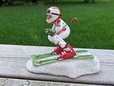 Downhill Ski Racer Skiier Skiis Comical Figurine 8 IN.Warren Stratford Artist