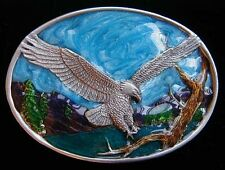 SMALL SIZE SOARING EAGLE BELT BUCKLE CHILDRENS NICE COLORS NEW!