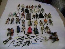 Lot of 38 Assorted Star Wars Action Figures Accessories Speeder Bike