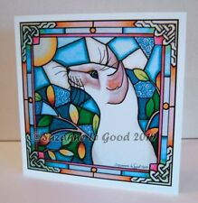 Siamese Cat art greetings birthday card lilac from painting by Suzanne Le Good