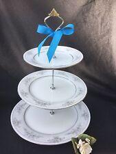 3 Tier Serving Tray Wedding cake Stand Legendary Noritake Sweet Leilani Plate