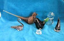 More details for job lot 6 glass bird ornaments / figurines - wedgwood / tweedsmuir