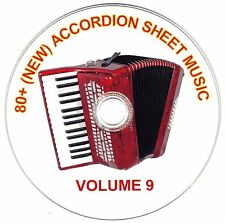 80+ SONGS! - HUGE VINTAGE ACCORDION SHEET MUSIC COLLECTION! - CD#9 of 10