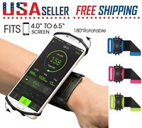 Cell Phone Sports WristBand Running Jogging Bag Cover 180° Rotating Holder
