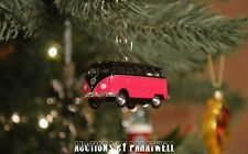 Pink Custom Volkswagen T2 Bus Christmas Ornament VW Van 1/64 Scale Samba Camper