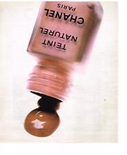 PUBLICITE  1972   CHANEL maquillage collection fond de teint