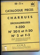 ID-2  FR  : Mc Cormick ;catalogue pièces charrues dechaumeuses   janvier 1958
