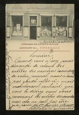 DENMARK 1904 PPC SHOP FRONT ANDRE FRED HOST + SON BOOKS HORSES PRINTS PUBLISHER