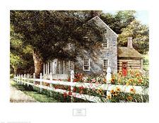 FARM ART PRINT - DAYLILIES by Dan Campanelli LANDSCAPE 31x24 Country Poster