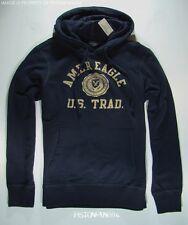 American Eagle Mens Navy Blue Crest Pullover Hoodie Sweatshirt LARGE NWT
