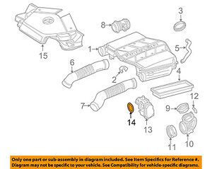 MERCEDES OEM 02-08 G500 Throttle Body-Gasket 3059970345