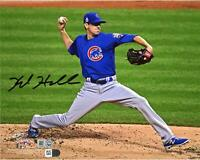 "Kyle Hendricks Chicago Cubs 2016 MLB WS Champs Signed 8"" x 10"" WS Photo"
