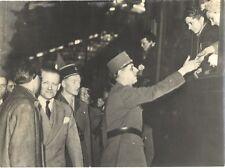 Général Charles de Gaulle France Photo Argentique Silver Print Vintage N3