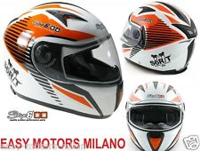 S6-0835/XXL CASCO INTEGRALE STAGE6 MKII RACING BIANCO / ARANCIONE TAGLIA XXL ECE