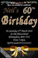 10 x Personalised 60th Birthday Party Invites / Invitations & Envelopes 22401