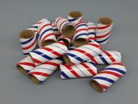 "25 Fireworks PYRO Cardboard Tubes 1/4 Stick Red/White/Blue 1"" x 2-1/2"" x 3/32"""