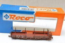 HO-ROCO 34521 OBB Swiss Railways Flat Cars w/ Stakes (PG)