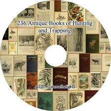 236 books of hunting and trapping on one DVD