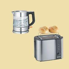 Severin Set - Wasserkocher 1,0 L WK 3468 + Toaster AT 2589 - Edelstahl/schwarz