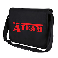 The A-Team ATeam Kult 80er Schwarz Motiv Retro Umhängetasche Messenger Bag