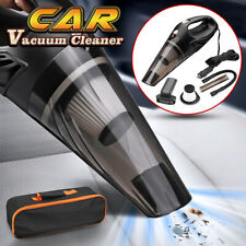 12V Car Vacuum Cleaner Handheld Duster Dry And Wet Suction Hand Portable Black
