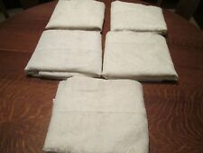 """(M) Lot of 5 Off-White Floral Lace Panels, 60"""" Wide & 80"""" Long Each"""