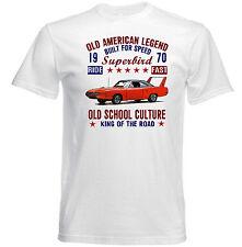 Vintage American Car Plymouth Superbird-Nuevo Algodón Camiseta