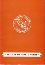 JOAN COLLINS - UK Programme LAST OF MRS. CHEYNE Birmingham & Tickets  C#A