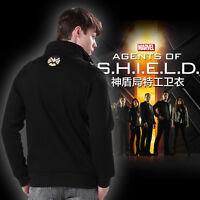 Agents of Shield Mens Cool Hoodie Jacket Coat Sweatshirt Swearter Cosplay Costum