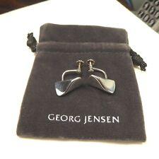 STERLING SILVER EARRINGS BY EDVARD KINDT-LARSEN FOR  GEORG JENSEN, OF DENMARK.