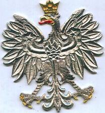 Royal Poland Polish Kingdom Eagle Car Auto Badge Emblem Door Crest Seal Sticker