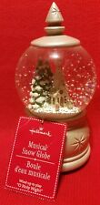 "Hallmark Snow Globe Music Box Christmas Plays ""O HOLY NIGHT"" Holiday"