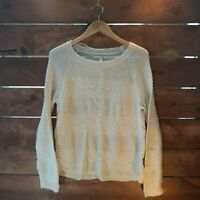 LC Lauren Conrad Women's XL White Crew Neck Knit Sweater