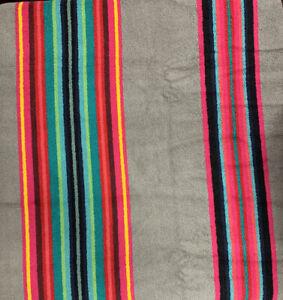 "NWT Pendleton Spa Bath Beach Towel Serape Stripe Gray Pink Teal Blu Large 40-70"""