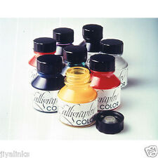 CLASSIC SET OF 9 COLOUR CALLIGRAPHY INK 28 ml BOTTLE YELLOW,SEPIA, RED, ORANGE