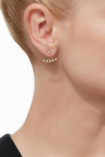 EF Collection 14k Rose Gold and Multi Bezel Diamond Ear Jacket Single Earring