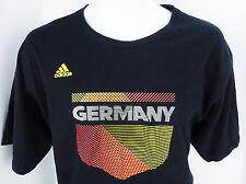 Large Adidas Germany T Shirt Soccer Football Black Mens L